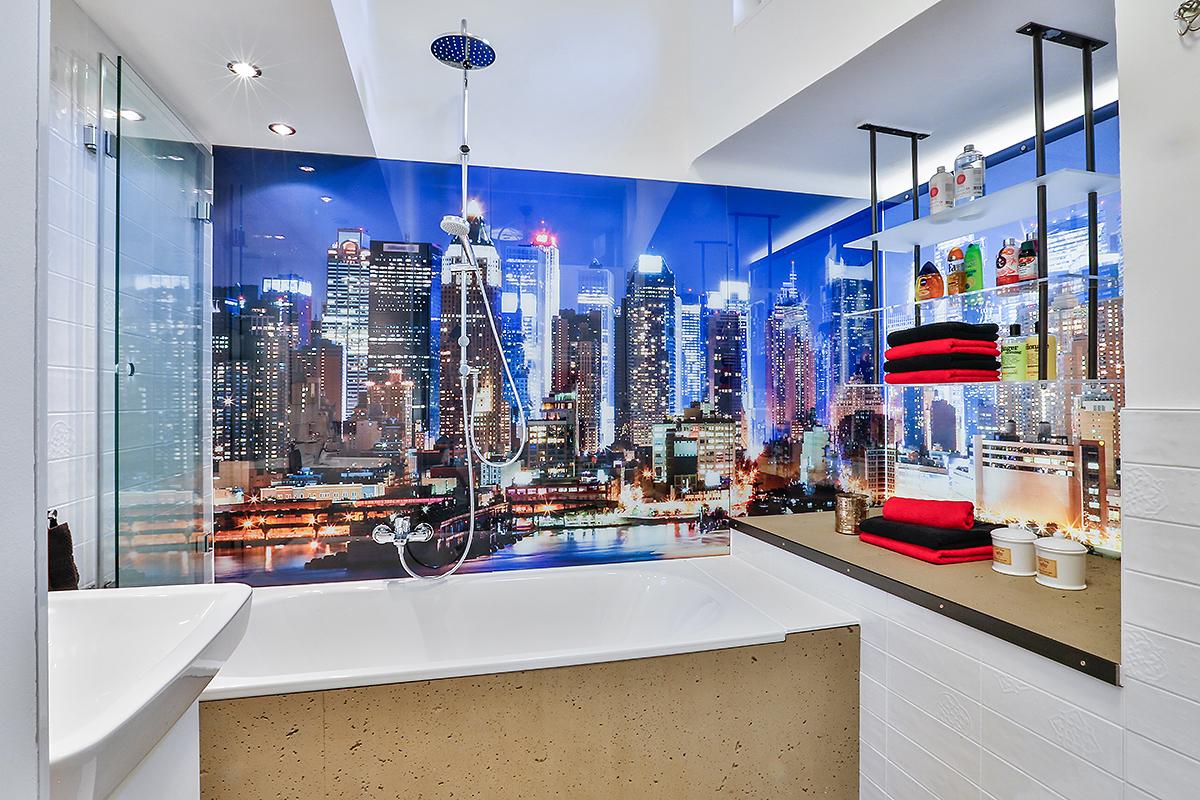 Interiour Architektur Foto Bad Badezimmer New York Design Wohnung